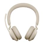 Jabra Evolve2 65, UC Stereo Headset Head-band Beige