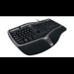 Microsoft Natural Ergonomic Keyboard 4000 USB QWERTY US English Black