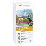 Tombow ABT Dual Brush Pen 2 tips Secondary Colours PK18