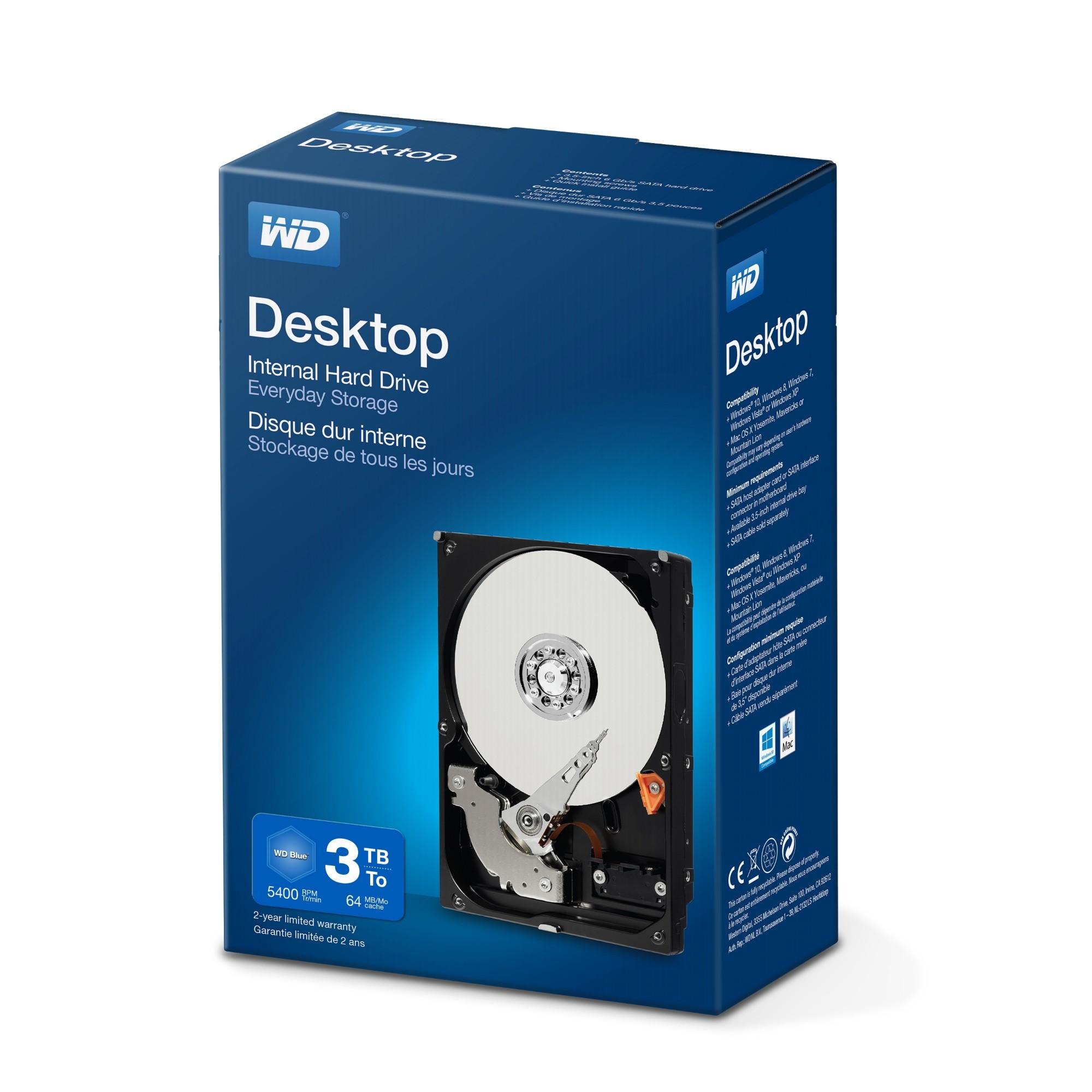 """Western Digital Desktop Everyday 3.5"""" 3000 GB SATA III HDD"""