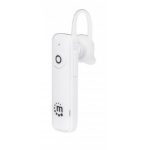 Manhattan Single Ear Bluetooth Headset (promo), 10 hour usage time, Range 10m, Omnidirectional Mic, Integrated Controls, USB-A charging cable included (5V charging), Bluetooth v4.0, White, 3 year warranty, Boxed