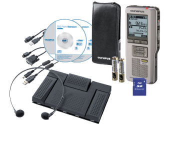 Olympus DS-2500 + AS-2400 Flash card Silver dictaphone