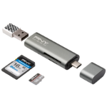 PNY R-TC-UA-3N1E01-RB USB 3.0 (3.1 Gen 1) Type-C Metallic card reader