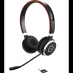 Jabra Evolve 65 UC Stereo Headset Head-band Bluetooth Black