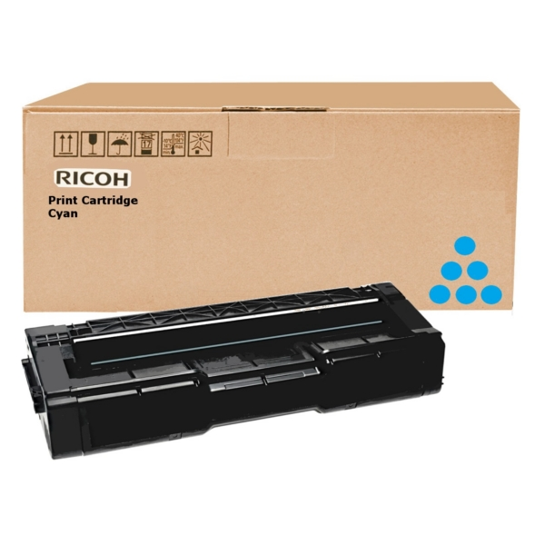 RICOH 406349 (TYPE SPC 310 HE) TONER CYAN, 2.5K PAGES @ 5% COVERAGE