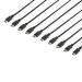 StarTech.com Paquete de 10 Cables DisplayPort de 4,6m con Pestillos