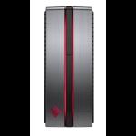 HP OMEN 870-219 7th gen Intel® Core™ i7 i7-7700 12 GB DDR4-SDRAM 1128 GB HDD+SSD Black,Silver Desktop PC