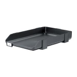 Rexel Agenda Letter Tray with Non Slip Feet Charcoal (55 Sheet Capacity)