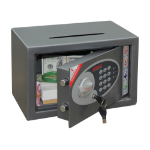 Phoenix Safe Co. Vela SS0801ED Graphite 10 L Steel