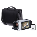 Canon Legria HF R806 Camcorder Kit inc 32GB SD Card and Case - White