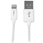StarTech.com Cable 30cm 0,3m Lightning 8 Pin a USB A 2.0 para Apple iPod iPhone 5 iPad - Blanco