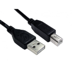 Cables Direct 99CDL2-100 0.5m USB A USB B Male Male Black USB cable