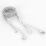 Bouncepad CB-RF-LIGHT-W lightning cable 2 m White