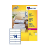 Avery L7163-250 addressing label White Self-adhesive label