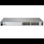 Hewlett Packard Enterprise Aruba 2530 24G PoE+ 2SFP+ Managed L2 Gigabit Ethernet (10/100/1000) Power over Ethernet (PoE) 1U Grey