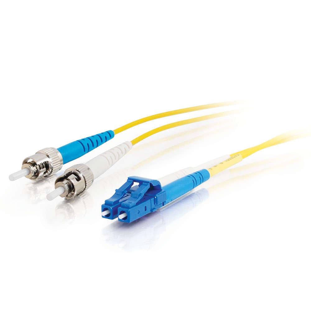 C2G 85603 cable de fibra optica 30 m OFNR LC ST Amarillo