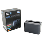 "CIT U3HD01 2.5""/3.5"" HDD/SSD USB3.0 SATA Aluminium Docking Station Gunmetal Grey"
