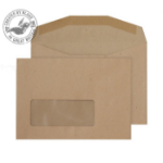 Blake Purely Everyday Manilla Window Gummed Mailing Wallet C6 114x162mm 80gsm (Pack 1000) window envelope