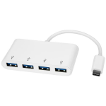 StarTech.com 4 Port USB C Hub with 4x USB-A Ports (USB 3.0 SuperSpeed 5Gbps) - USB Bus Powered - Portable/Laptop USB-C to USB-A Adapter Hub - USB 3.1 Gen 1/USB 3.2 Gen 1 Type-C Hub - White