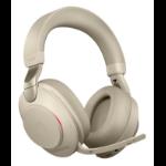 Jabra Evolve2 85, UC Stereo Headset Head-band Beige