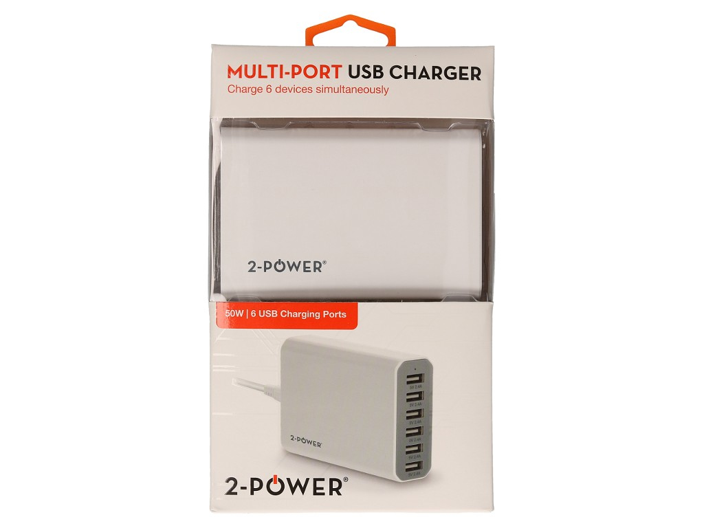 2-Power Multi-Port USB Charging Station 10A Max