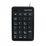 Gear Head 23-Key Numeric Keypad