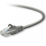 Belkin RJ45 CAT5e Patch Cable, Snagless Molded 2ft. 0.6m Grey networking cable