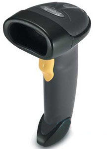 Zebra LS2208 Bar Code Scanner, 7 ft Black 1D Laser