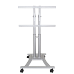 "Newstar Mobile Monitor/TV Floor Stand for 27""-70"" Screen, Height Adjustable - Silver"