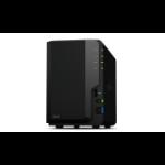 Synology DiskStation DS218 NAS Desktop Ethernet LAN Black RTD1296