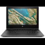"HP Chromebook x360 G3 EE LPDDR4-SDRAM 11.6"" 1366 x 768 pixels Touchscreen Intel® Celeron® 4 GB 32 GB eMMC Wi-Fi 5 (802.11ac) Chrome OS Gray"