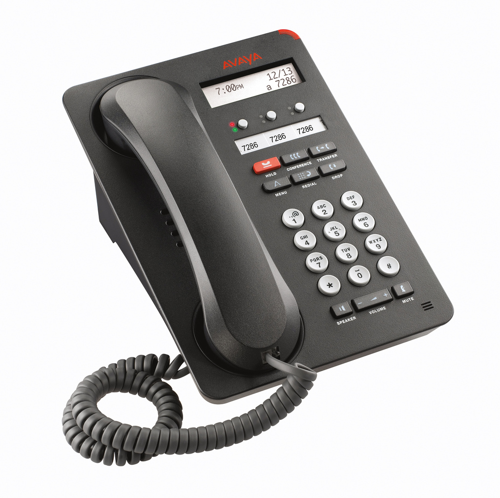 Avaya 1603-I Wired handset 3lines LCD Black IP phone
