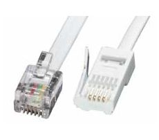 Lindy 3m RJ-11/BT telephony cable White