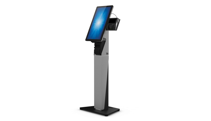 "Elo Touch Solution E797162 flat panel floorstand 55.9 cm (22"") Fixed flat panel floor stand Black,Silver"