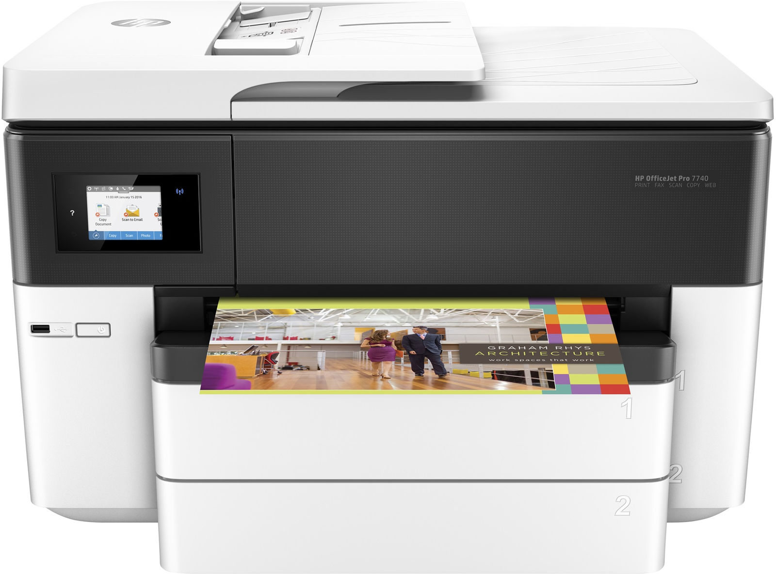 HP OfficeJet Pro 7740 Thermal Inkjet 22 ppm 4800 x 1200 DPI A3 Wi-Fi