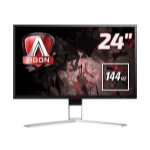 "AOC Gaming AG241QX computer monitor 60.5 cm (23.8"") 2560 x 1440 pixels Quad HD LED Flat Black,Red"