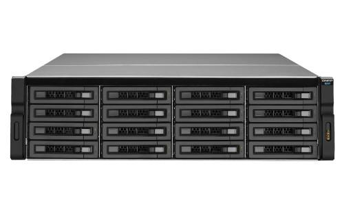 QNAP REXP-1610U-RP disk array 192 TB Rack (3U) Black,Grey
