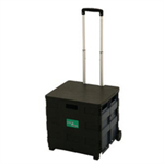 VFM FOLDING SHOP CART W/LID BLK/GRY 383360