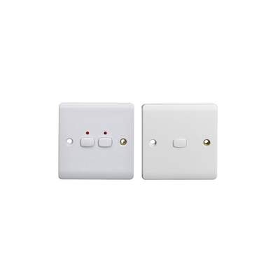 EnerGenie MIHO090 Energenie MiHome 2-Gang Light Switch White (Master/Slave) - Pack of 2