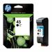 HP 51645AE#301 (45) Printhead black, 930 pages, 42ml