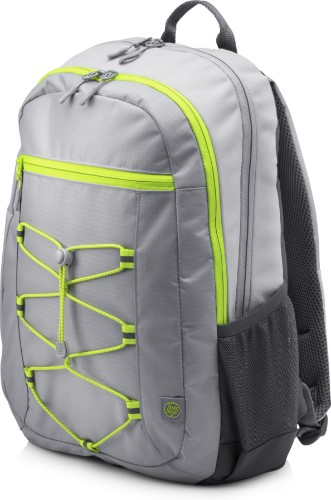 HP Active (Grey/Neon Yellow) backpack Fabric Grey,Yellow