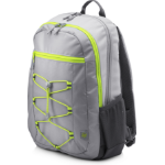 HP Active (Grey/Neon Yellow) backpack Fabric Grey,Yellow 1LU23AA#ABB