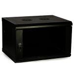 4XEM 4XRACK6U rack cabinet 6U Wall mounted rack Black