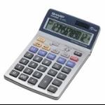 Sharp EL-337C Desktop Financial Silver calculator