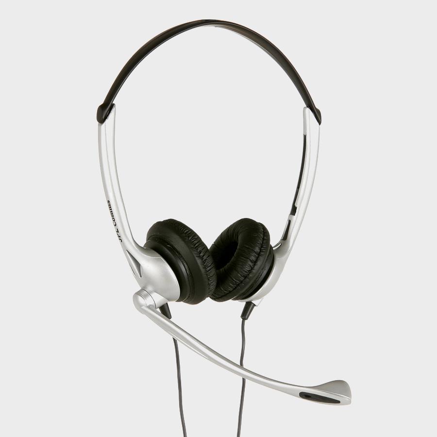 JPL DUO HDSET DIRECT PLUG 2.5 JACK Binaural Head-band Black,Silver headset
