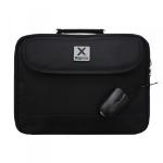 APPROX Laptop Bag For 15.6 Inch Devices & Optical 800 DPI USB Mouse Bundle, Black/Orange (APPNBBUNDLE2)