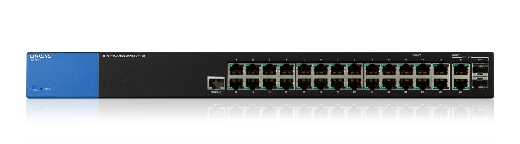 Linksys Switch Gigabit administrado de 28 puertos (LGS528)