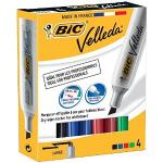 BIC Velleda 1781 Chisel tip Black,Blue,Green,Red 4pc(s) marker