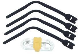 Lindy Hook and Loop , 300mm (10 pack) cable tie Black