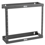 Tripp Lite SmartRack 8U/12U/22U Expandable Ultra Low-Profile Patch-Depth Wall-Mount 2-Post Open Frame Rack